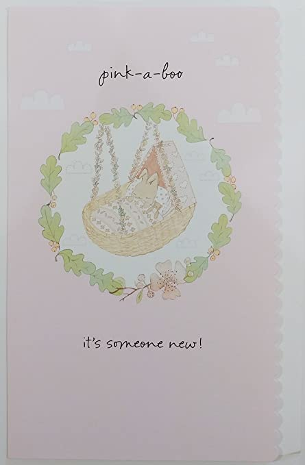 Congrats On Your New Baby Girl Greeting Card Pink A