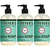 Mrs. Meyer's Clean Day Liquid Hand Soap, Cruelty Free and Biodegradable Hand Wash Made with Essential Oils, Basil, 12.5 oz -