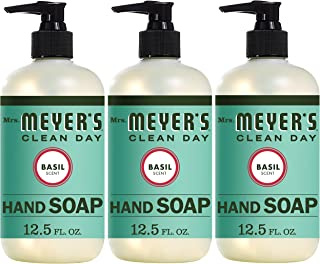 product image for Mrs. Meyer's Clean Day Liquid Hand Soap, Cruelty Free and Biodegradable Formula, Basil Scent, 12.5 oz- Pack of 3