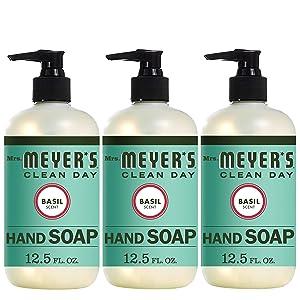 Mrs. Meyer´s Clean Day Hand Soap, Basil, 12.5 fl oz, 3 ct
