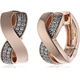 Esprit Damen-Creolen 925 Sterling Silber Zirkonia Vibrant ESCO91900B000