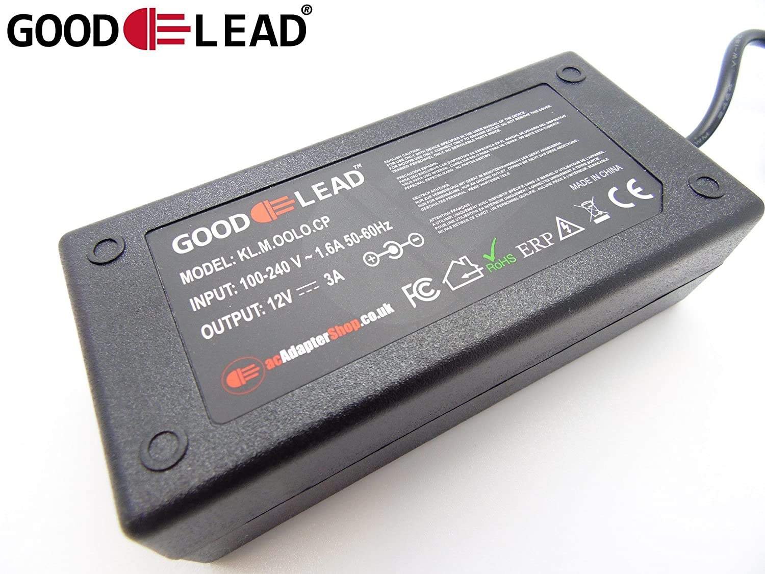 GOOD LEAD 12V 2A Mains AC DC Adapter Power Supply For BT YouView Humax DTR T2100 Box NEW