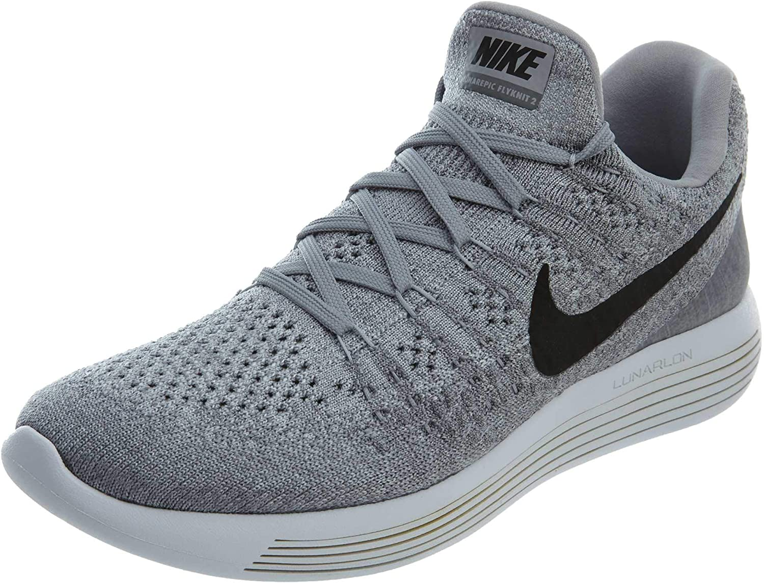 Nike Women s Lunarepic Low Flyknit 2 Running Shoe 9, Wolf Grey Cool Grey Pure Platinum Black