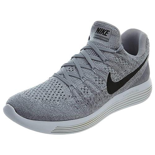 Elegante comerciante Marco Polo  Buy Nike Women's Lunarepic Low Flyknit 2 Wolf Grey/Black/Cool Grey Running  Shoe 8 Women US at Amazon.in
