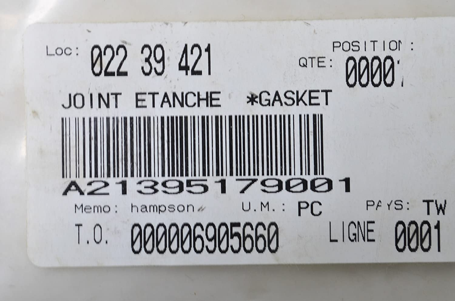 Can-Am 2005-2007 Rally 175 Joint Etanche Gasket A21395179001 New Oem