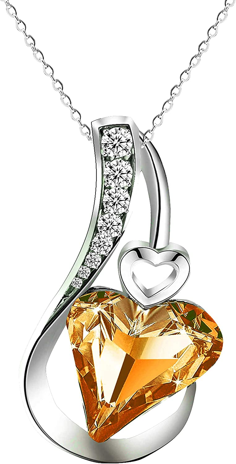 Solid 14K White Gold Real Diamond /& Turquoise Heart Gemstone Pendant Necklace Jewelry Valentine/'s Day Gift For Her