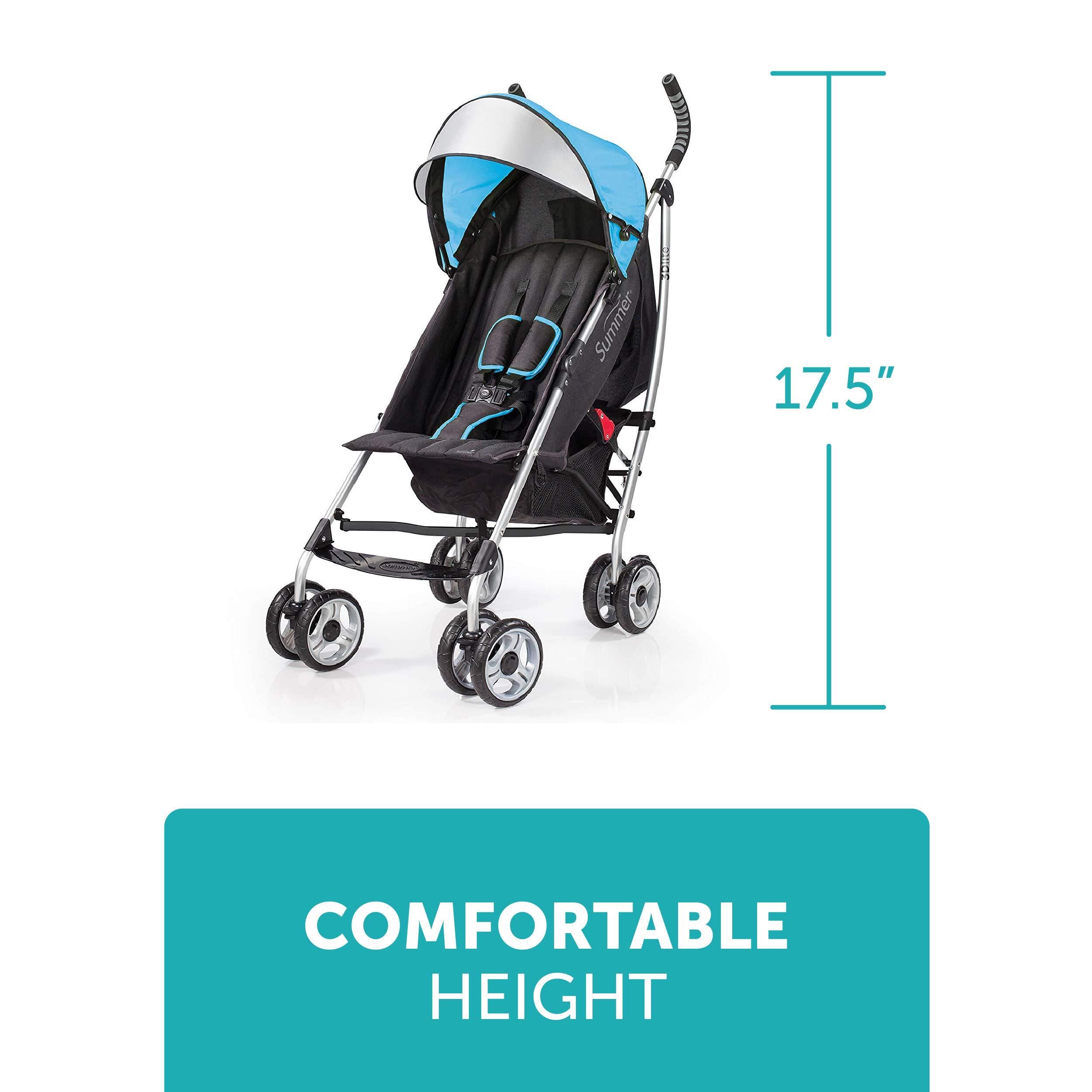 Summer Infant 3Dlite Convenience Stroller, Caribbean Blue by Summer Infant (Image #6)