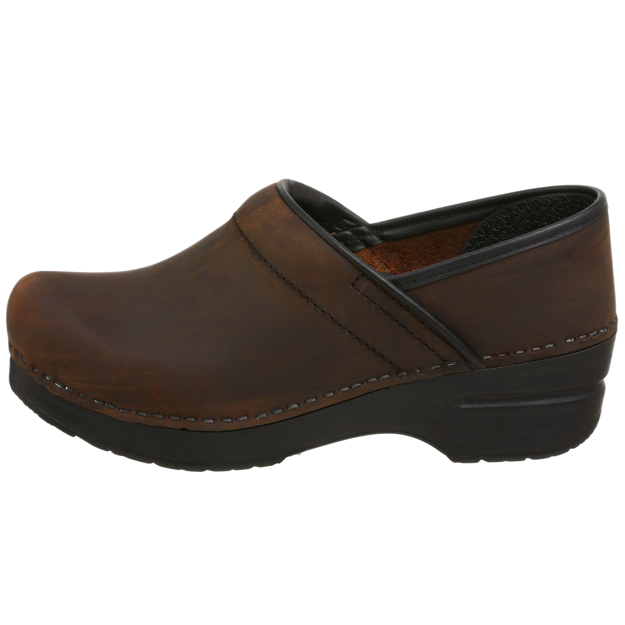 Dansko Women's Professional Oiled Leather Clog,Antique Brown/Black,35 EU / 4.5-5 B(M) US by Dansko (Image #5)