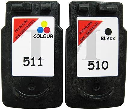 Pack de cartuchos de tinta reciclados equivalentes a PG-510 y CL ...