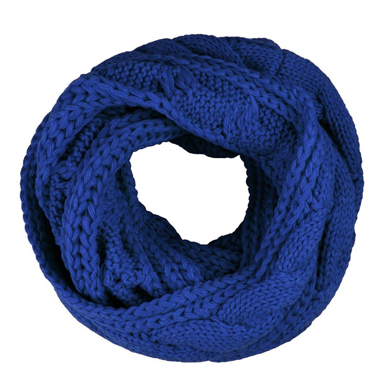 a7d41a03ee5 Fletion Unisexe Femmes Hommes Tricot Laine Écharpes hiver chaud épais  foulard boucle Cercle Echarpe tricotée Snood