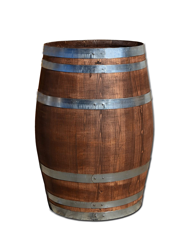 100 Liter Holzfass, Fass, Weinfass aus Kastanienholz (Fass palisanderfarben geschlossen)
