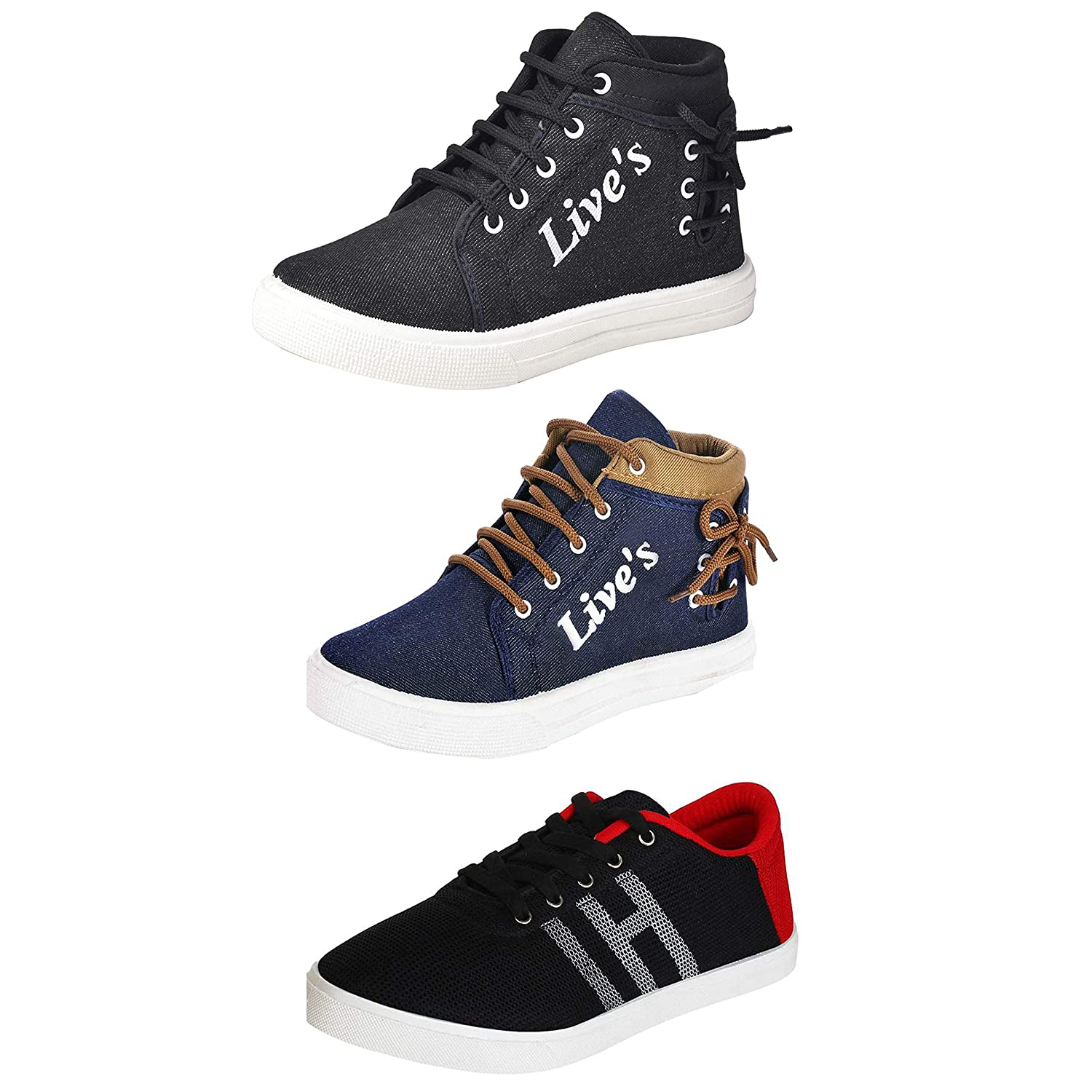 Combo Pack of 3 Sneakers Shoes