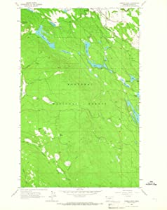 1963 Eureka South, MT - Montana - USGS Historical Topographic Map : 24in x 30in