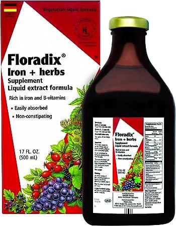 Amazon.com: Flora - Floradix Hierro y Hierbas Líquido ...