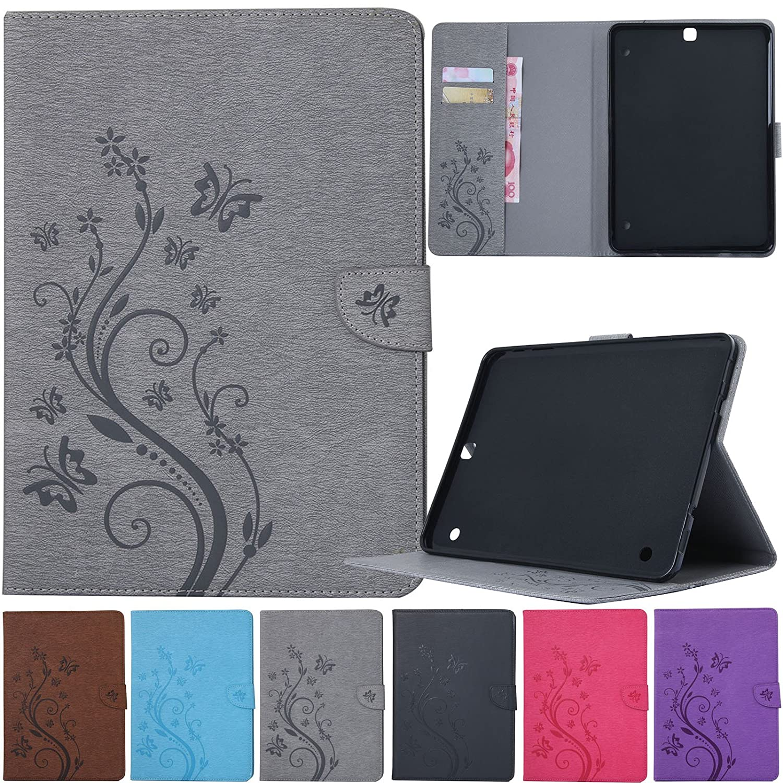 Artyond Galaxy Tab S2 9.7ケース PUレザースタンドケース スマートマグネットカバー [自動ウェイク/スリープ機能] ソフトマイクロファイバーカードスロット財布ケース Samsung SM-T810/SM-T815/SM-T813用 グレイ  グレー B07NRT9ZPD