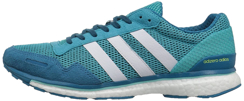 adidas Women's Adizero Adios W Running Shoe B01MRZMQAM 5.5 B(M) US|Energy Blue/White/Energy Aqua