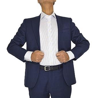 E. MECCI Camisa para Hombre 100% algodón No Iron Rayas Azul Claro ...