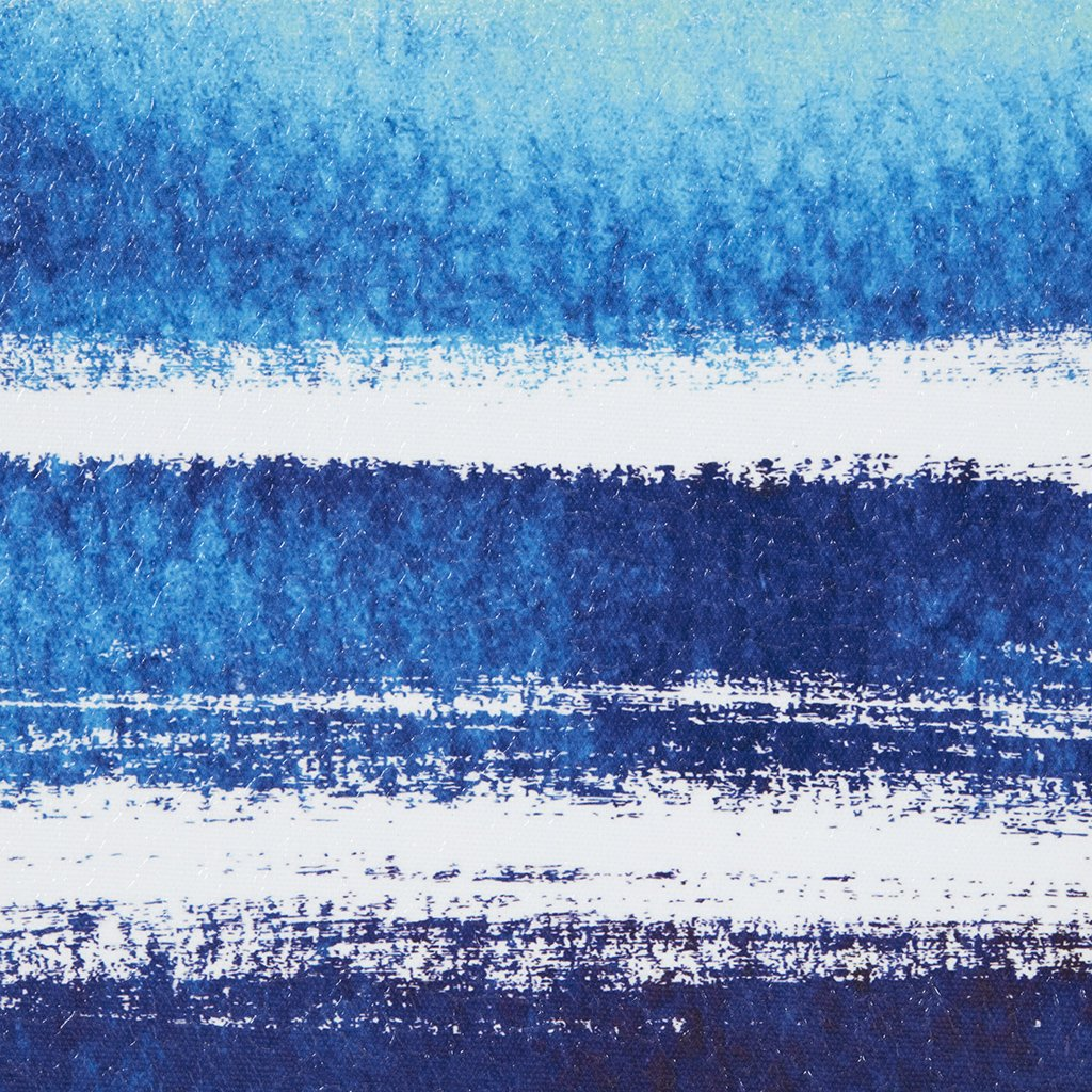 Water Tide Blue Canvas Wall Art 25.6X17.6, Novelty Modern/Contemporary Wall Décor by Madison Park