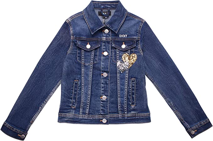 DKNY Girls Super Stretch Fashion Denim Jacket