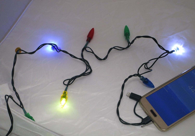 LED Handy Ladekabel 8 bunte LED-Lichter: Amazon.de: Elektronik