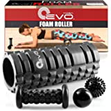 Yoga EVO Foam Roller Bundle - 2 Massage Balls and Foot Massager Stick
