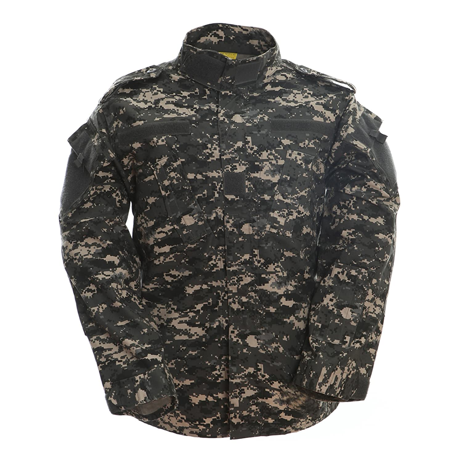 TACVASEN Men's Army Military Camouflage Digital Combat Uniform Shirt Top Jacket Blouse FEDCS-35