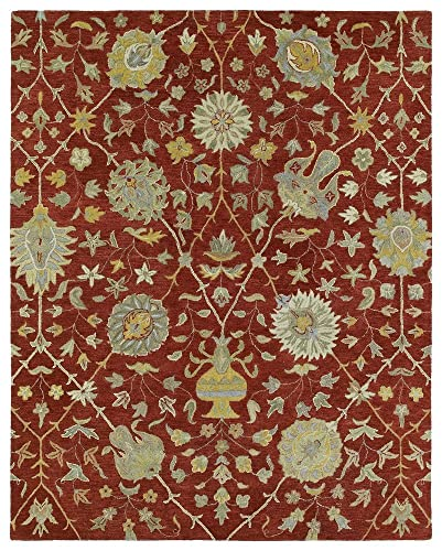 Kaleen Helena Collection Hand Tufted Area Rug, 5 x 7 9 , Red