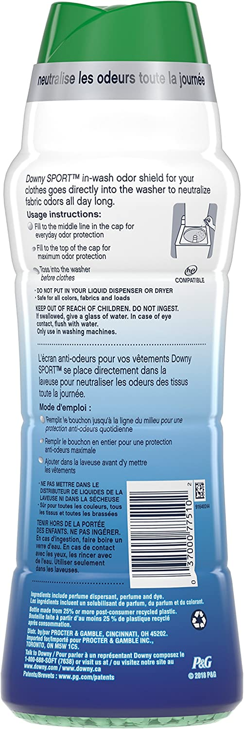 Downy Odor Protect in-Wash Scent Booster Beads, Active Fresh, 20.1 oz (Packaging May Vary): Health & Personal Care