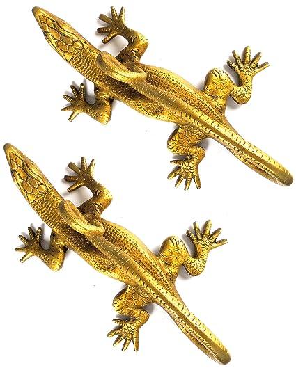 eshoppee designer antique look brass lizard (chhipkali) design door ...