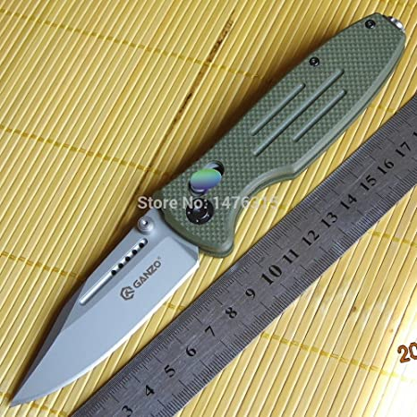 Ganzo G702-G 440c Green Blade Green Camping & Hiking Knives & Tools Sporting Goods