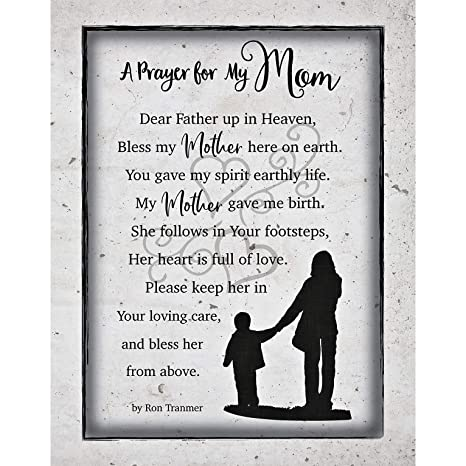Amazon.com: Mom Mother Prayer Wood Plaque with Inspiring ...