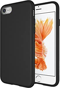 Diztronic Matte Black iPhone 7 Case/iPhone 8 Case, Full Matte Slim-Fit Flexible TPU Case for Apple iPhone 7 & 8 [Matte Black]