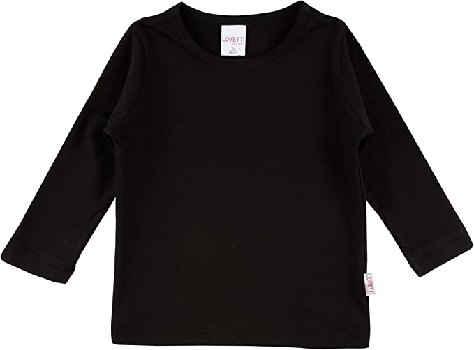 Lovetti Girls/' Basic Long Sleeve Round Neck T-Shirt Size 10 Brown