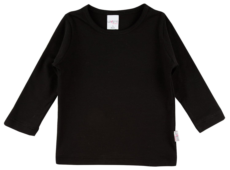 Black t shirt girl - Lovetti Girls Basic Long Sleeve Round Neck T Shirt