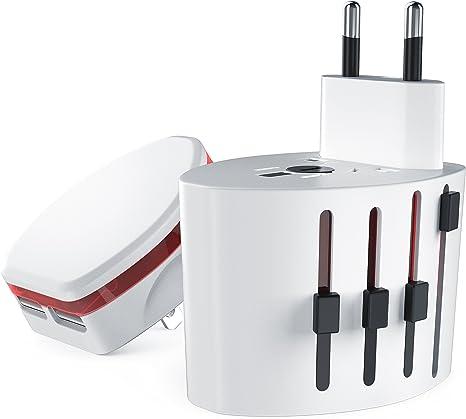 CSL – Adaptador de viaje universal con USB Base de carga/Cargador ...