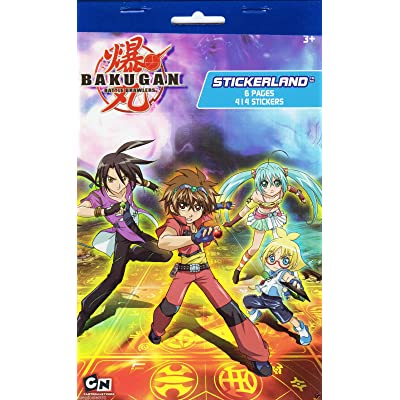 Bakugan Battle Brawlers Stickerland 414 Stickers 6 Pages: Kitchen & Dining
