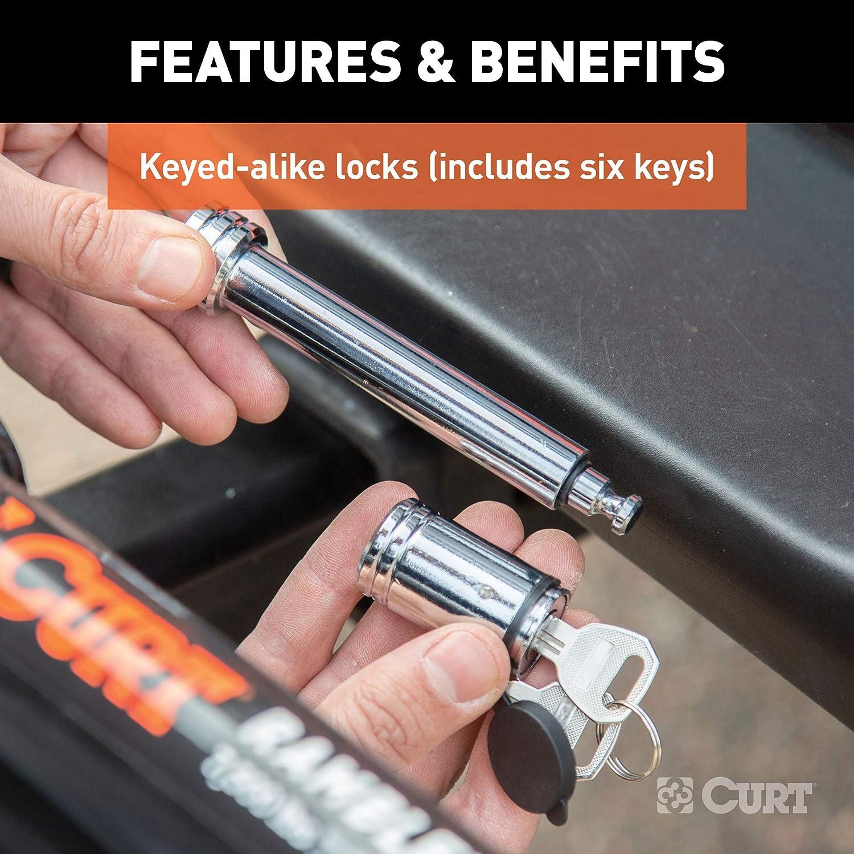 3-Pack Keyed-Alike CURT 70005 Rambler RV Tow Bar Lock Set