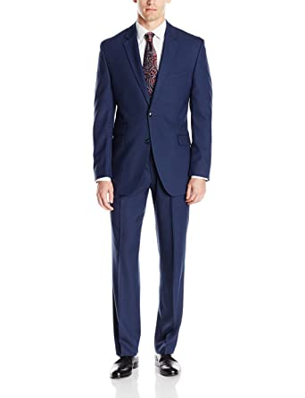 15b4de1f83 Perry Ellis Men s Slim Fit Suit w  Hemmed Pant at Amazon Men s ...