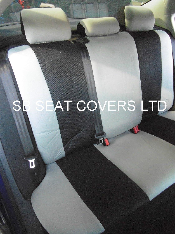 Fiat Qubo//Doblo asiento de coche cubre Rossini Elegance gris Ros 0213/Universal Full Set