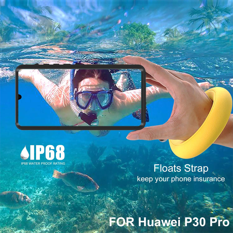 Mijobs P30 Pro Coque Etanche P30 PRO 6.47,Noir+Corde flottante Anti-Neige Case Cover imperm/éable en Antichoc Anti-poussi/ère Housse Coque Int/égrale de 360 Protection Souple Coque pour Huawei P30 Pro