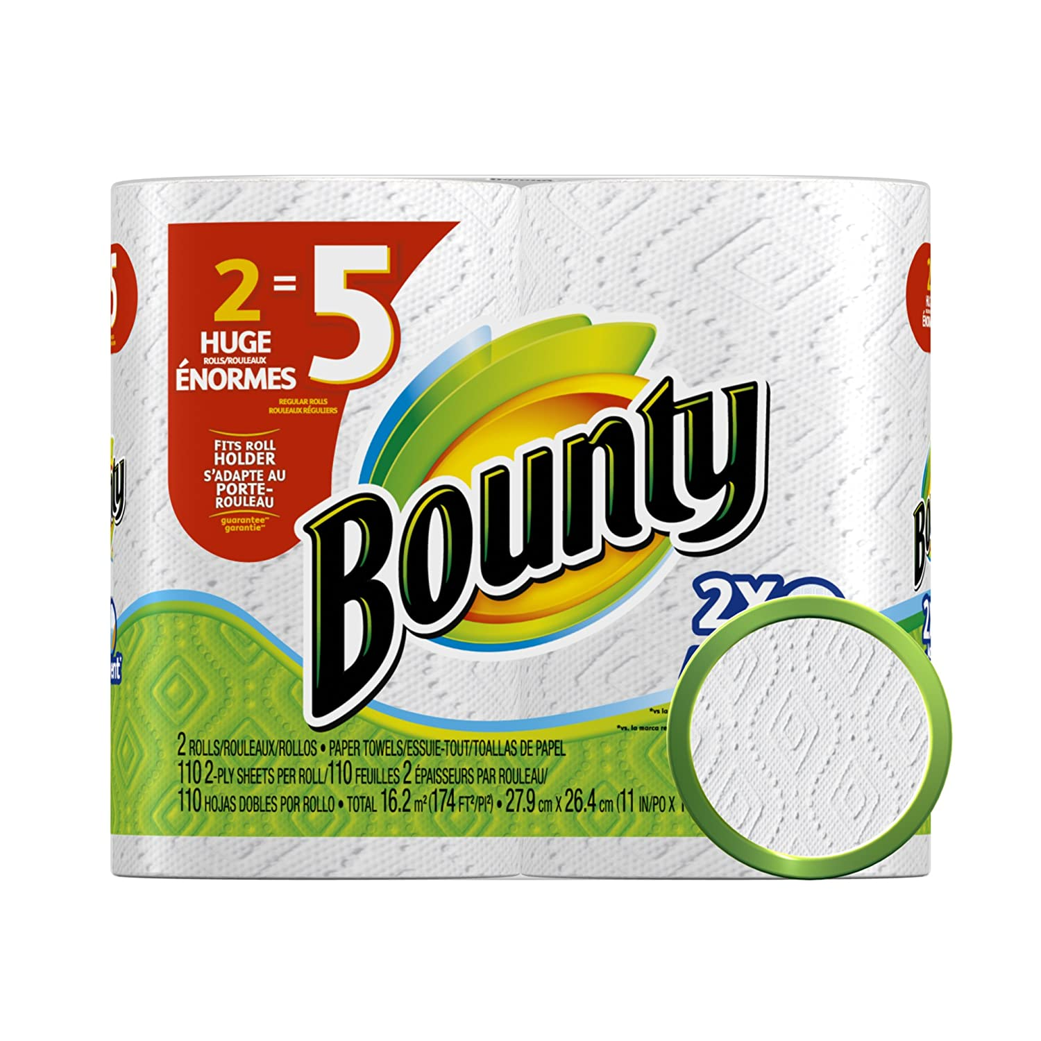 Amazon.com: Bounty Paper Towels, White, 2 Huge Rolls, Pack Of 6 (12 Rolls) (Packaging May Vary): Health & Personal Care