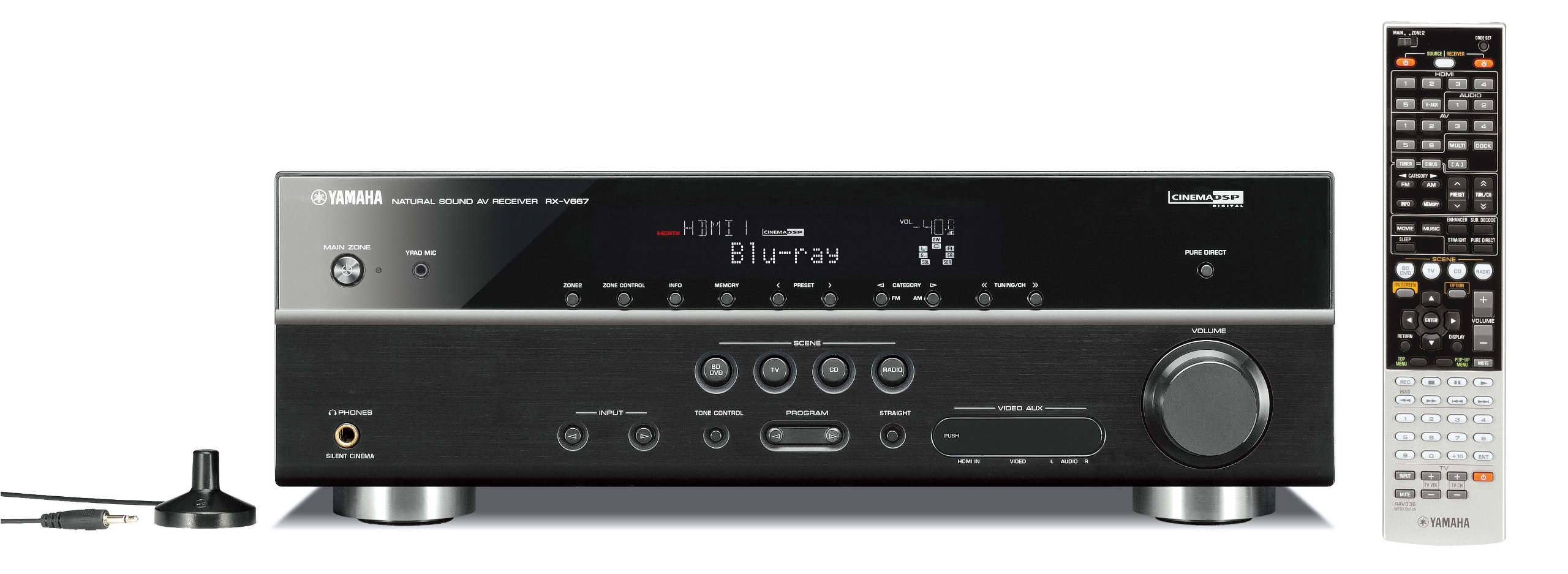 Yamaha RX-V667 7.2-Channel Home Theater Receiver (OLD VERSION) (Discontinued by Manufacturer) by Yamaha