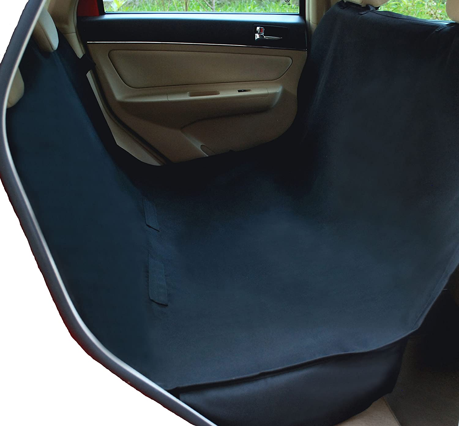 Medium image of amazon     nac u0026zac waterproof hammock pet seat cover for cars and suv with seat anchors nonslip extra side flaps machine washable barrier dog seat