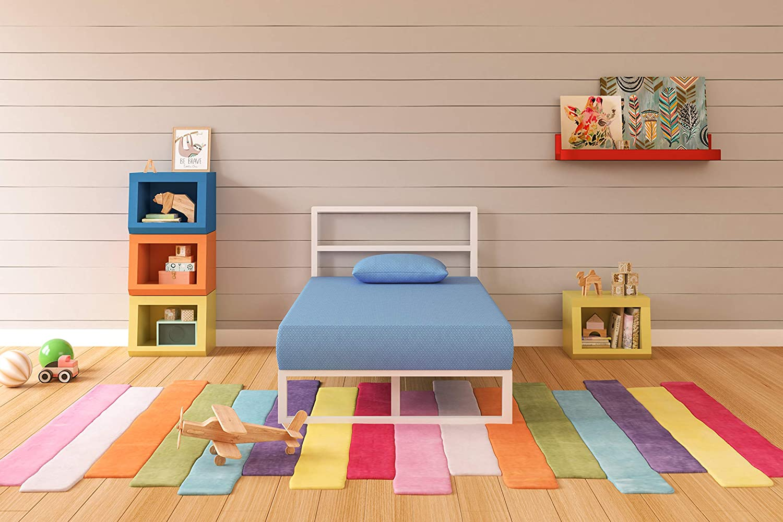 Ashley Furniture Signature Design - iKidz Children's Mattress and Pillow Set - Kids Bed in a Box - Twin - Blue