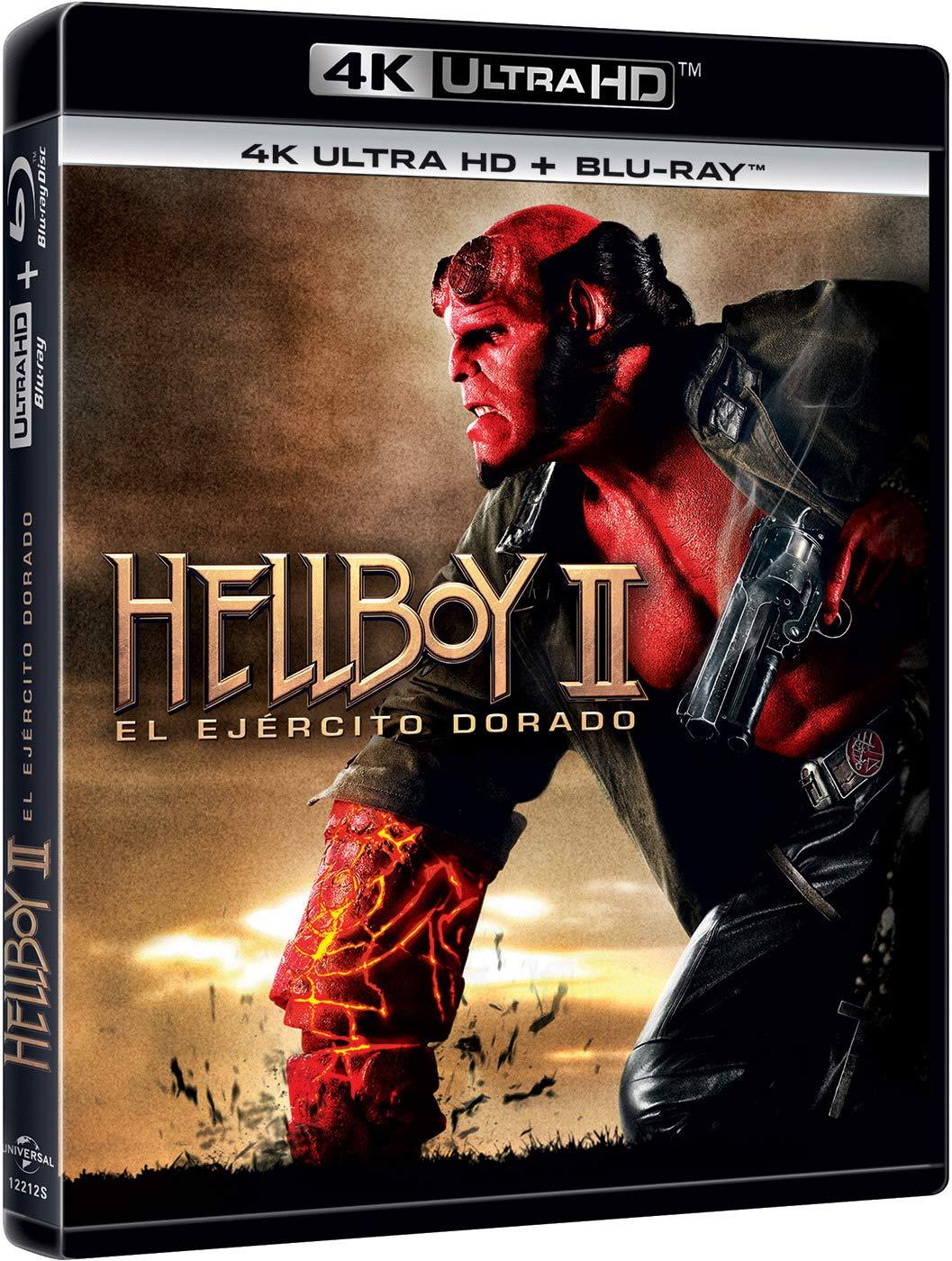 Hellboy 2: El ejercito dorado (4K UHD + BD) [Blu-ray]: Amazon ...