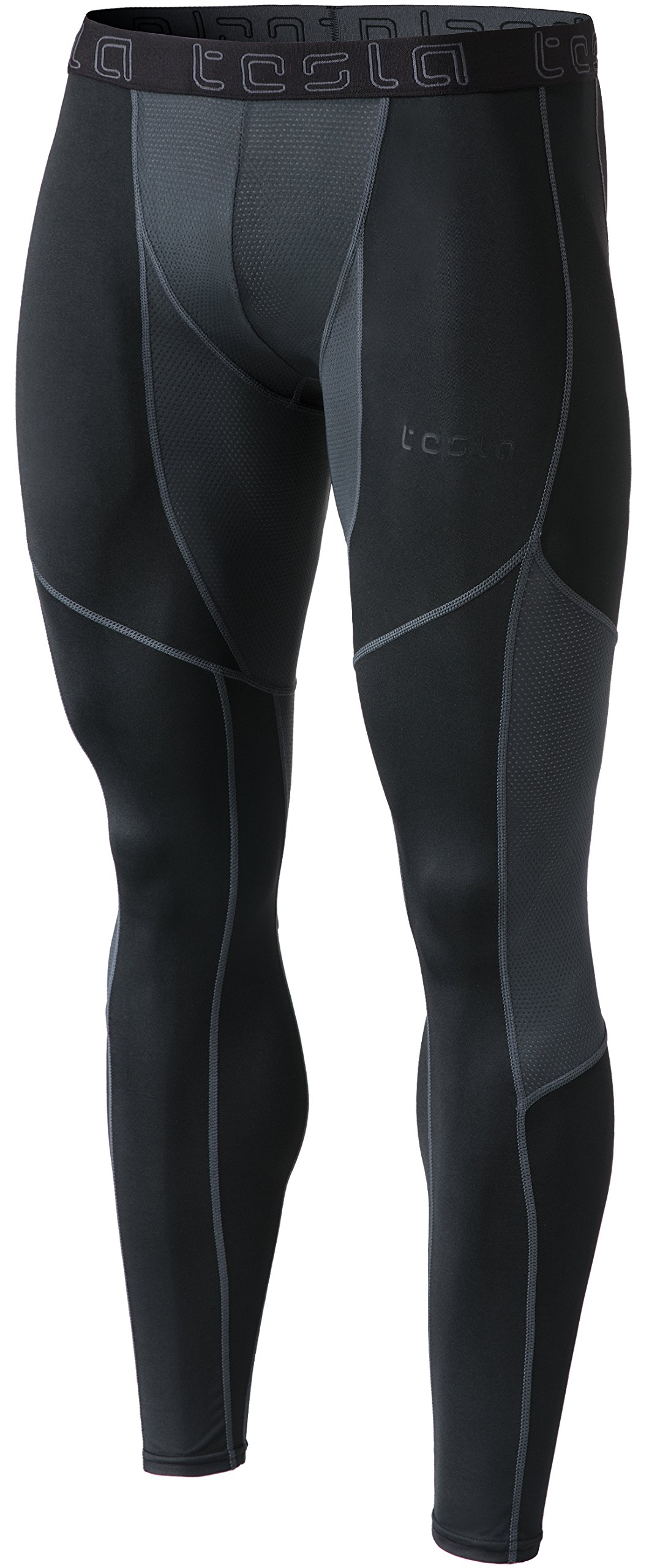 2dc67f8d8 TSLA Men's Mesh-Panel Compression Pants Baselayer Cool Dry Sports Tights  Leggings MUP79 product image