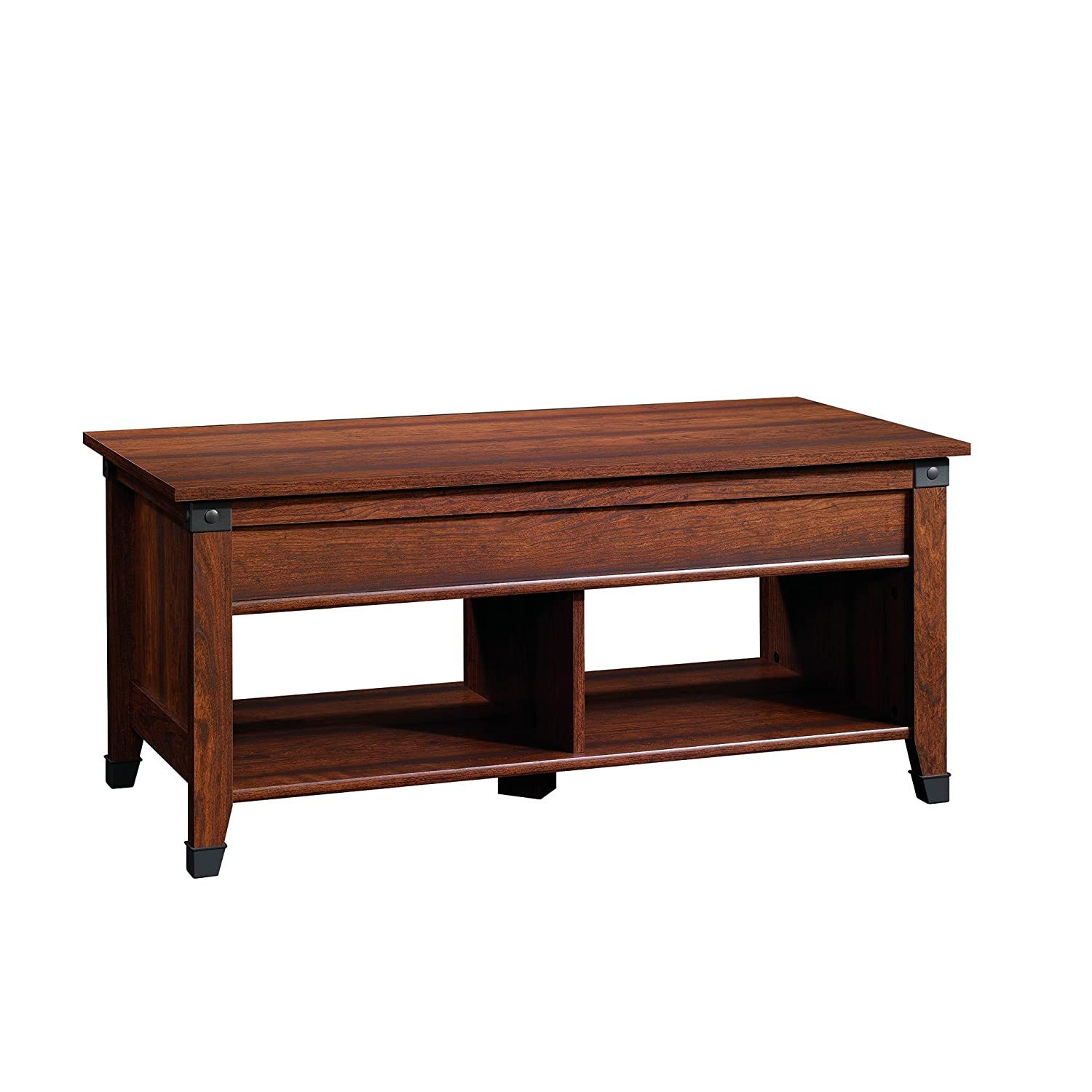 Amazon sauder carson forge lift top coffee table washington amazon sauder carson forge lift top coffee table washington cherry finish kitchen dining geotapseo Choice Image