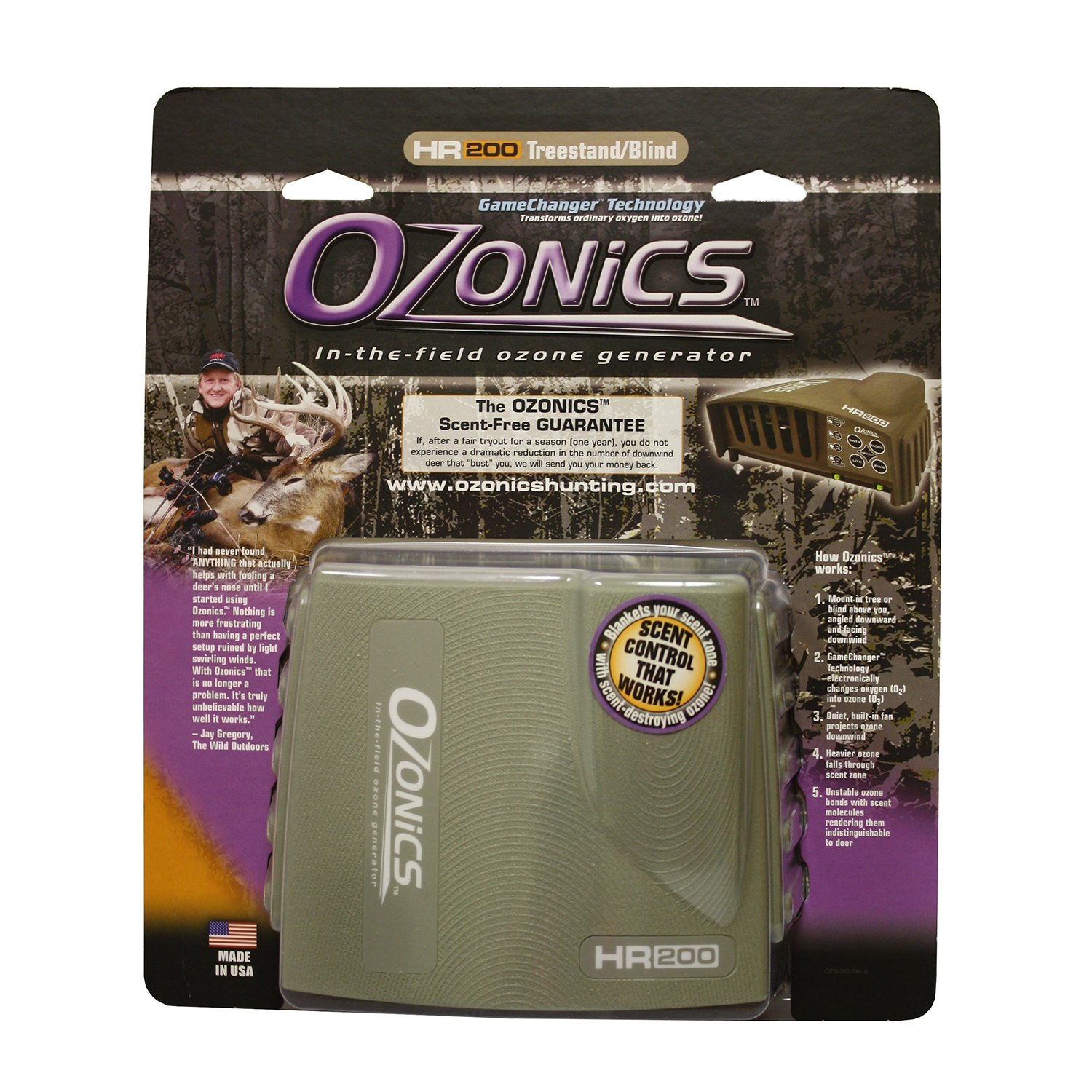Ozonics HR-200 Electronic Scent Eliminator by Ozonics