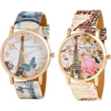 Maan International Analogue Multicolor Dial Girl's Combo Of 2 Watch - Combo3