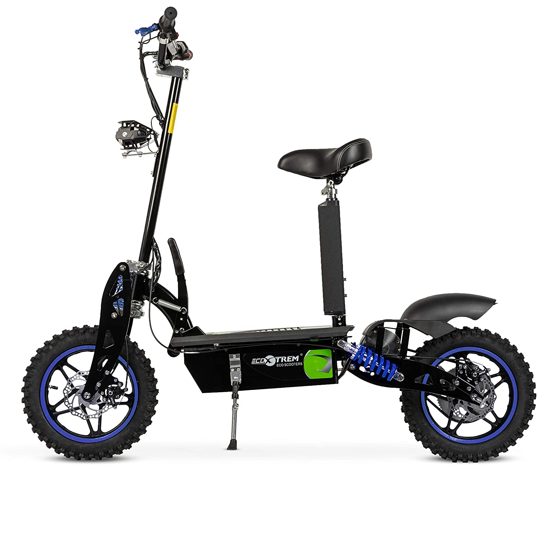 ECOXTREM Patinete/Scooter eléctrico Dos Ruedas con sillín Desmontable, Plegable y luz LED Frontal. Ideal para desplazamientos urbanos. Modelos Aspide ...